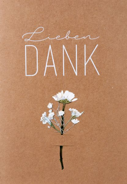 "Blumenkarte ""Lieben Dank"