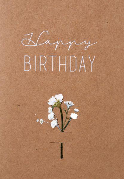 """Blumenkarte """"Happy Birthday"""""""