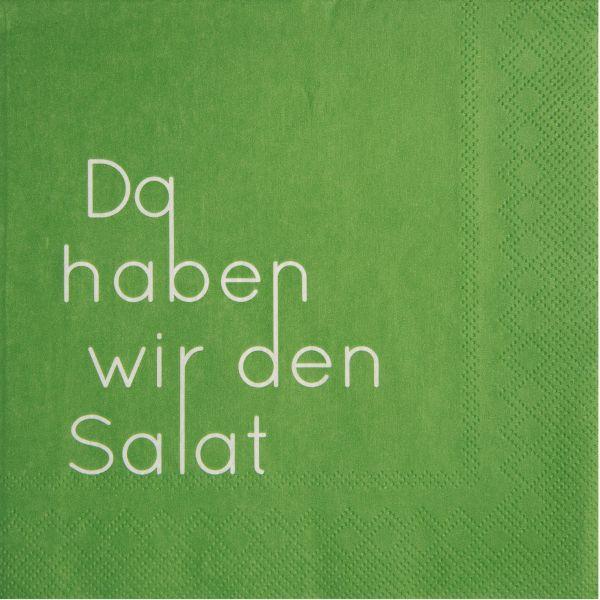 """Serviette """"Da haben wir den Salat"""" 33/33 cm"""