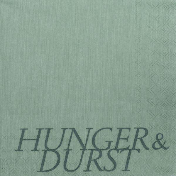 "Serviette ""Hunger & Durst"" 33/33 cm"