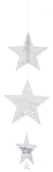 Sternenkette silber