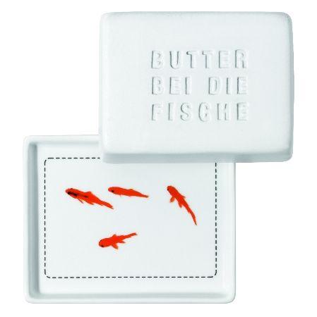 Butterdose Butter bei die Fische