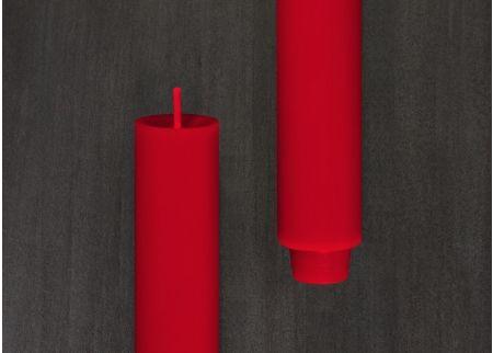 Stabkerze gegossen 2,2 x 24 cm