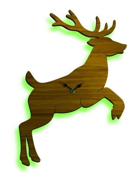 """Designer - Uhr Wild Time """"Nussbaum + green"""""""