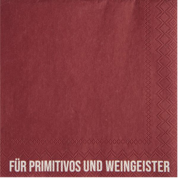 """Serviette """"Für Primitivos"""" 25/25 cm"""