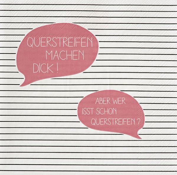"""Serviette """"Querstreifen"""" 33/33 cm"""