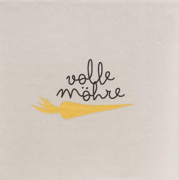 """Serviette """"Volle Möhre"""" 33/33 cm"""