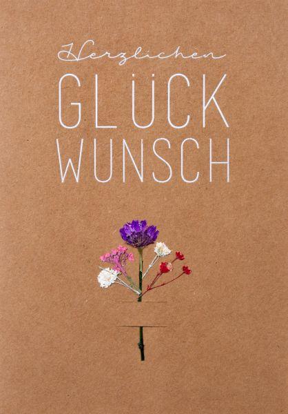 """Blumenkarte """"Herzlichen Glückwunsch"""""""