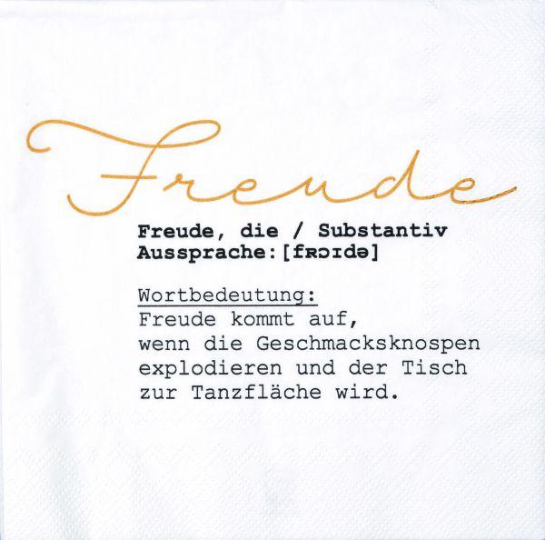 "Serviette ""Freude"" 33/33 cm"